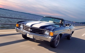 Picture 1972, speed, Chevelle, road, speed, Chevrolet, 454, Malibu, car, Convertible, auto, road