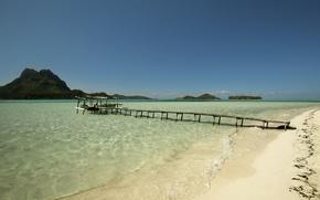 Picture sand, sea, island, pierce, surf