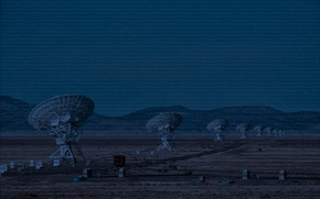 Picture antenna, figures, technology, radio telescope, codes