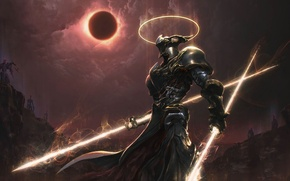 Picture Eclipse, armor, light, spears, Knight