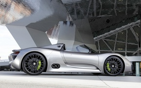 Picture brake, drives, Spyder, 918, Porsche, Porsche, side view, Concept, wheel
