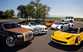 Picture McLaren, Mercedes-Benz, Bentley, Continental, Lamborghini, Rolls-Royce, Ferrari, Ghost, Cars, 458, Vorsteiner, AMG, MP4-12C, Tuning, LP700-4, …