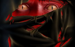 Picture fear, leather, cuts, red, nightmare, Snake eyes
