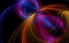 Picture light, line, pattern, color, fractal