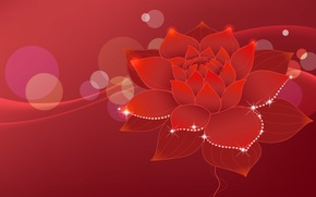 Picture flower, red, texture