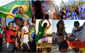Picture beach, joy, football, the ball, fans, the world Cup 2014