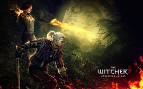 Picture geralt, triss merigold, Geralt of rivia, Igny, The witcher 2 assassins of kings, the Witcher …