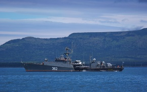 "Picture ship, Navy, anti-submarine, small, Pacific Fleet, >Ust-Ilimsk"", ""Albatross"", MPK"