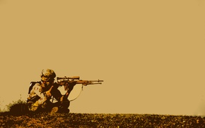 Wallpaper waiting, soldiers, sniper, sniper