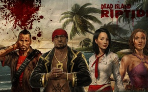 Picture girl, blood, game, island, tatoo, asian, Dead Island, chinese, oriental, asiatic, Dead Island: Riptide, Dead …