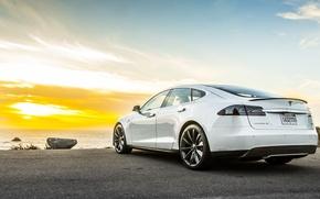 Picture Tesla, Model S, Tesla, electric car