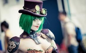 Picture background, portrait, Female Joker
