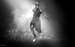 Picture jump, the ball, nike, basketball player, james, lebron