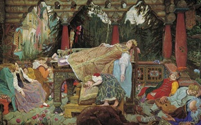 Picture picture, Vasnetsov, the sleeping Princess