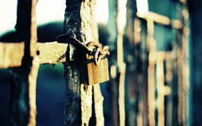 Picture macro, castle, the fence, iron