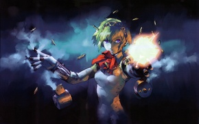 Picture robot, fingers, cyborg, person 3, shoots, aegis