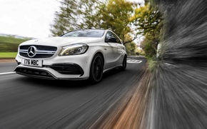 Picture white, Mercedes-Benz, Mercedes, AMG, AMG, A-class, W176
