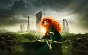 Wallpaper Archer, the movie, Princess, Brave heart, Scotland, Brave, Pixar, Pixar, princess, red hair, Disney, film, ...