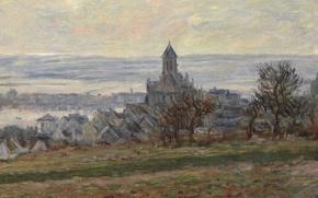 Picture landscape, picture, Claude Monet, The Church Of Vétheuil