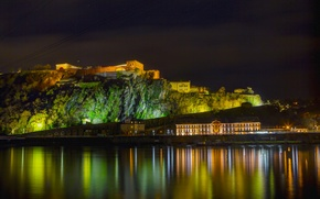 Picture night, the city, river, photo, home, Germany, Koblenz