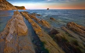 Picture Rocks, Dorset, Lulworth, Man-o-war, Shoreline