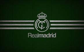 Picture Dark, logo, emblem, Green, minimalism, texture, background, football, soccer, Spain, football club, the white, El …