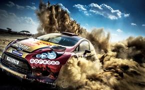 Picture Ford, Dust, Ford, WRC, Rally, Fiesta, Fiesta, Nasser Al Attiyah