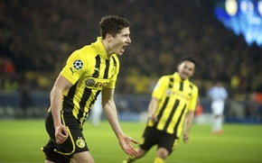 Picture Football, Football, Goal, Borussia Dortmund, Robert Lewandowski, Robert Lewandowski, Westphalia stadium, Ballspielverein Borussia 09 e. …
