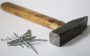 Picture background, hammer, nails