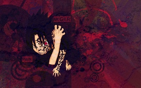 Picture red, evil, naruto, red, naruto, Sasuke, sasuke, print