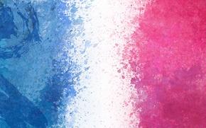 Wallpaper Blue, White, Pink