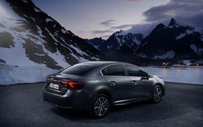 Picture Toyota, sedan, avensis, sneg