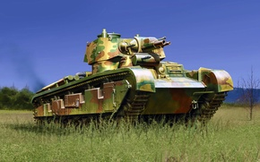 Picture art, painting, tank, New Vehicle No. 2