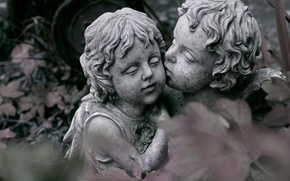 Picture love, kiss, sculpture, love is magic