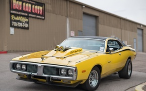 Picture retro, muscle car, classic, the front