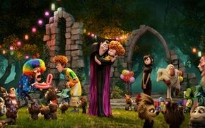 Picture children, holiday, clown, Dracula, Mavis, Hotel Transylvania 2, Jonathan, Transylvania 2