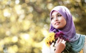 Picture girl, flowers, Lolli Yoke