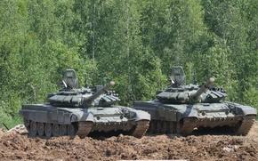 Picture tank, combat, armor, T-72