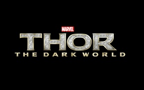 Picture Logo, background, Marvel, Thor, Movie, Letters, Thor The Dark World