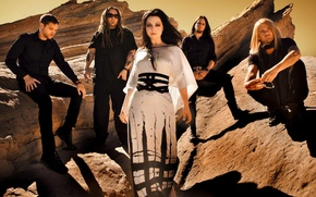 Picture rocks, group, Amy Lee, Evanescence