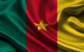 Picture Red, Star, Flag, Texture, Yellow, Green, Flag, Cameroon, Republic of Cameroon, Cameroon, Republic of Cameroon, …