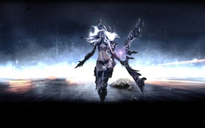 Picture weapons, the game, charge, girl, art, Irelia, League of Legends
