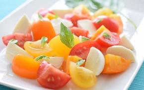 Wallpaper vegetable, Foods, Insalata Caprese