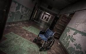 Picture background, door, stroller