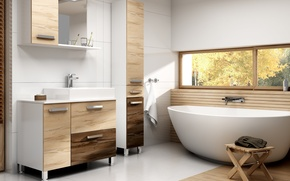 Picture design, style, room, interior, bathroom