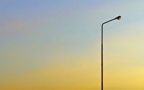 Picture summer, the sky, sunset, mood, minimalism, the evening, day, lantern, lamppost