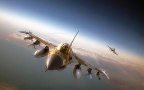 Picture Israeli air force, the plane, F-16, missiles, f-16, aviation, fighter
