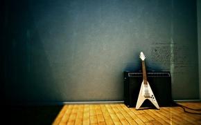 Wallpaper column, Gibson, guitar