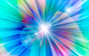 Picture rays, light, line, color, round, ring