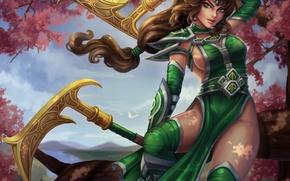 Wallpaper Fist of Shadow, art, dress, girl, moba, beauty, Akali, League of Legends